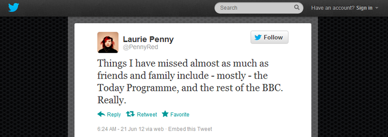 Laurie Penny hearts Today programme