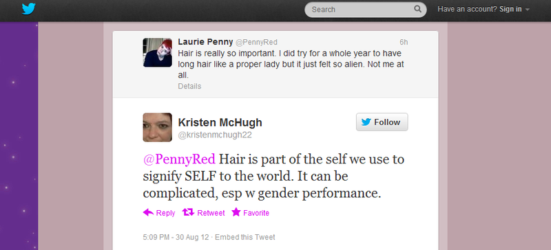 Laurie Penny hair is important 2