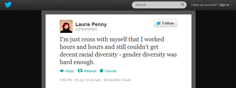 Laurie Penny struggles with diversity