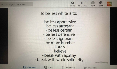 Whiteness - try to be less white 2.